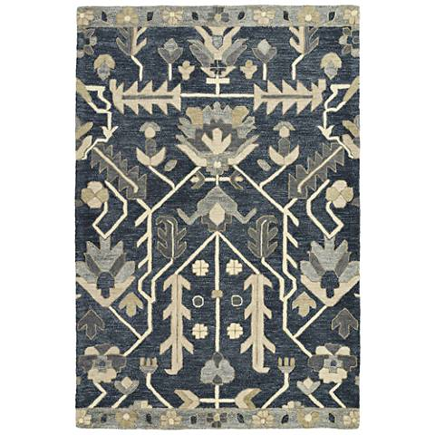 Kaleen Brooklyn 5307-10 Denim Wool Area Rug