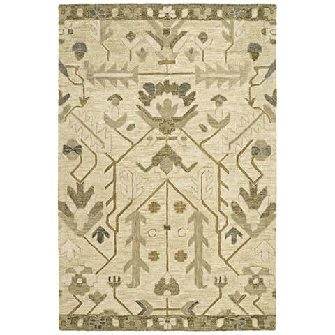 Kaleen Brooklyn 5307-23 Olive Wool Area Rug