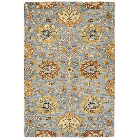 Kaleen Brooklyn 5308-103 Slate Wool Area Rug
