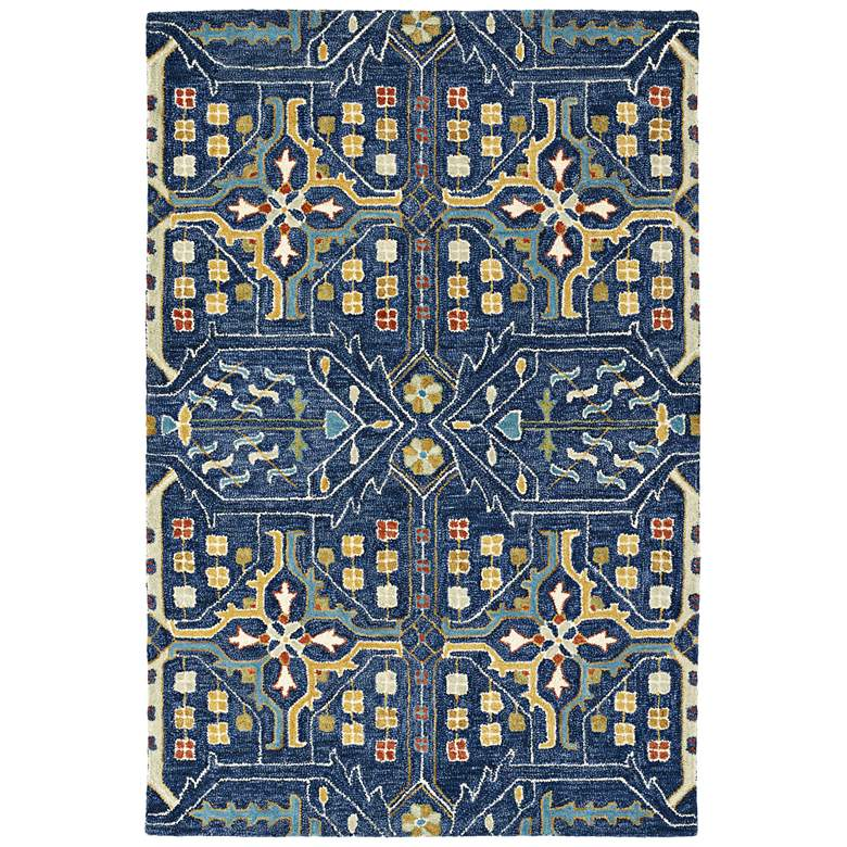 "Kaleen Brooklyn 5310-22 5'x7'6"" Navy Wool Area Rug"