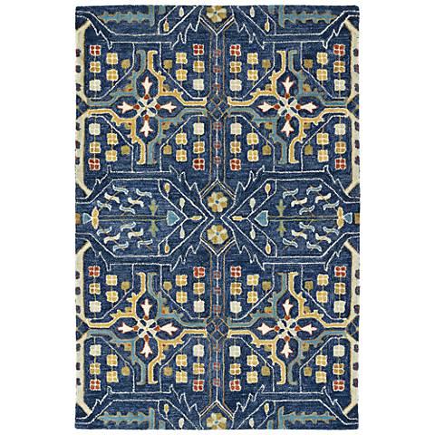 Kaleen Brooklyn 5310-22 Navy Wool Area Rug