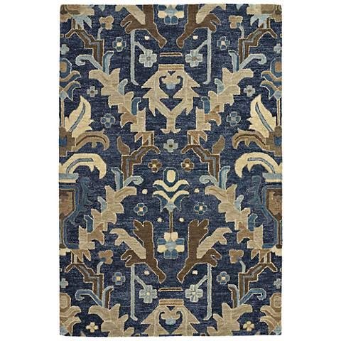 Kaleen Brooklyn 5311-22 Navy Wool Area Rug