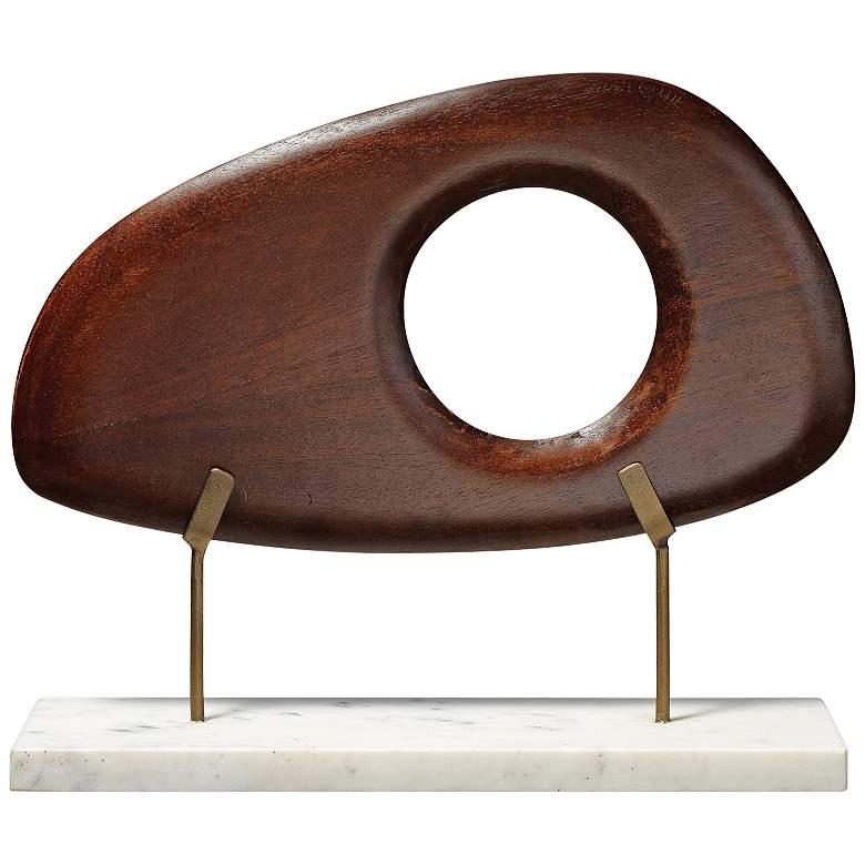 "Betty 14"" Wide Mid-Century Modern Wood Sculpture"