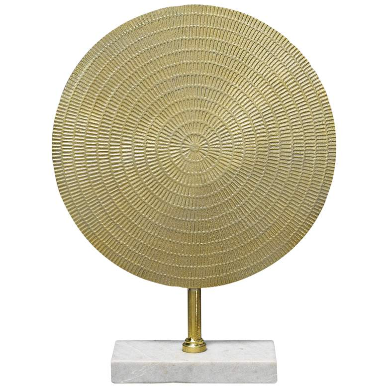 """Jamie Young Cleopatra 18 1/2""""H Raw Gold Modern Sculpture"""