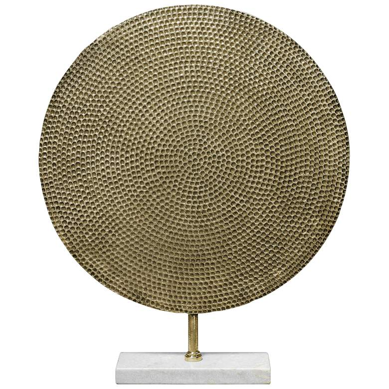 """Jamie Young Nile 24 1/2""""H Antique Brass Modern"""