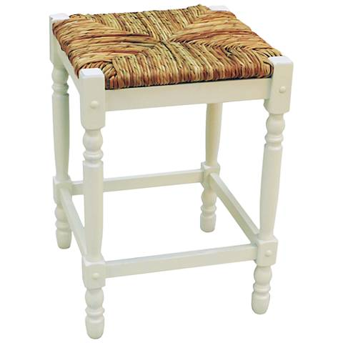 "Thomasville 23 3/4"" Antique White Counter Stool"