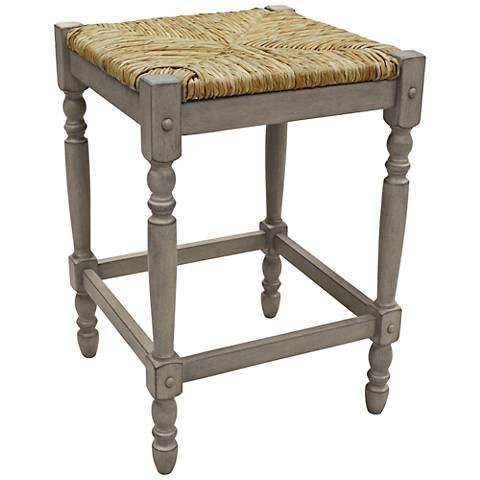 "Thomasville 23 3/4"" Weathered Gray Counter Stool"