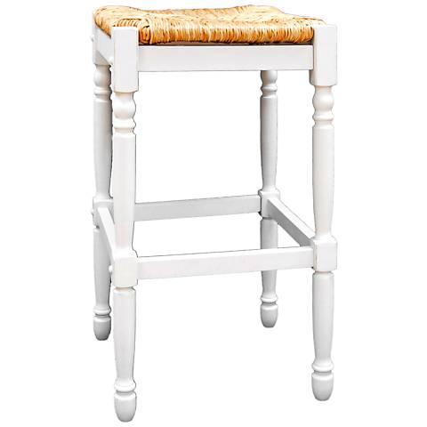 "Thomasville 29 1/4"" Antique White Barstool"