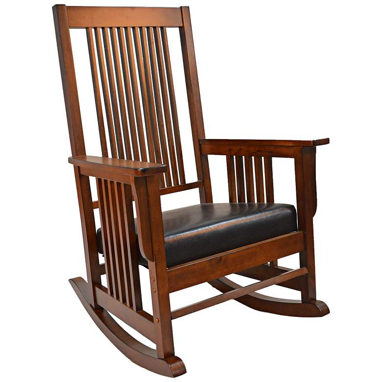 Cayuga Chestnut Wood Oversized Rocker