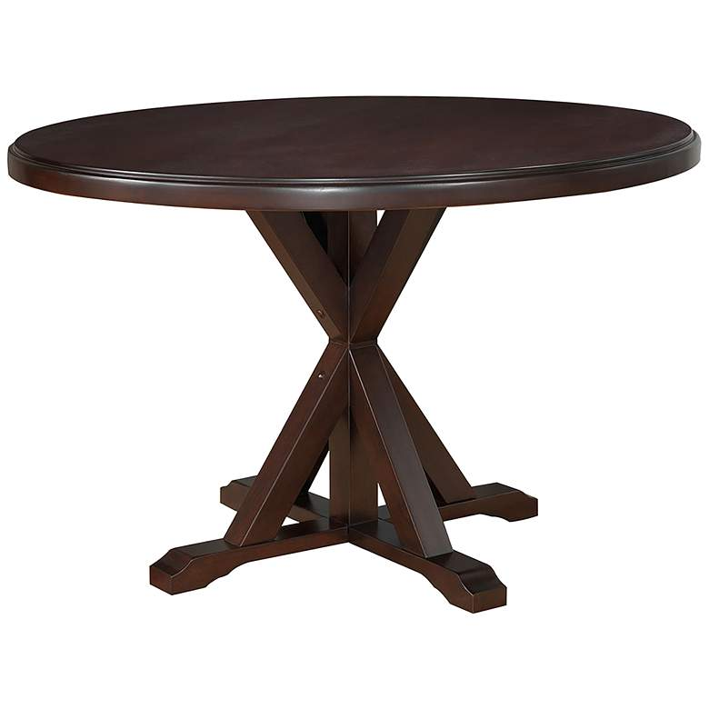 """Rembrandt 48"""" Wide Espresso Wood Round Dining Table"""
