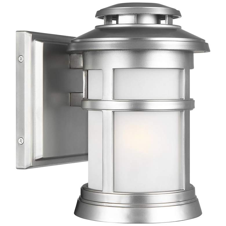 """Feiss Newport 9""""H Painted Brushed Steel Outdoor Wall Light"""