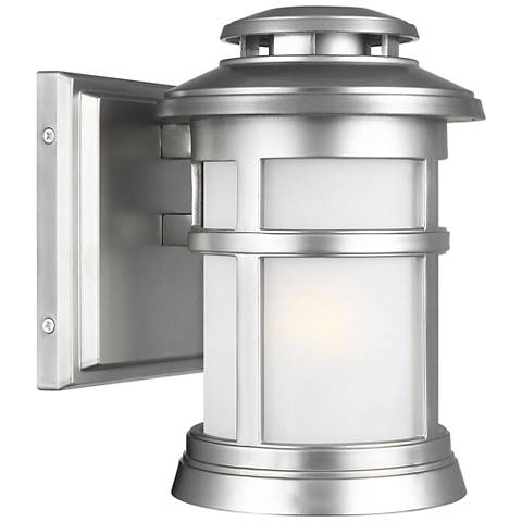"Feiss Newport 9""H Painted Brushed Steel Outdoor Wall Light"