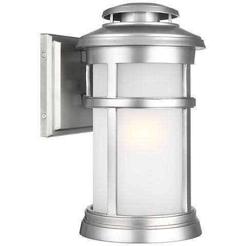 """Feiss Newport 13""""H Painted Brushed Steel Outdoor Wall Light"""
