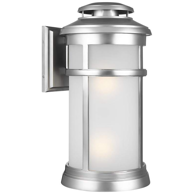 "Feiss Newport 20""H Painted Brushed Steel Outdoor Wall Light"