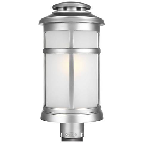 "Newport 18 1/2""H Painted Brushed Steel Outdoor Post Light"