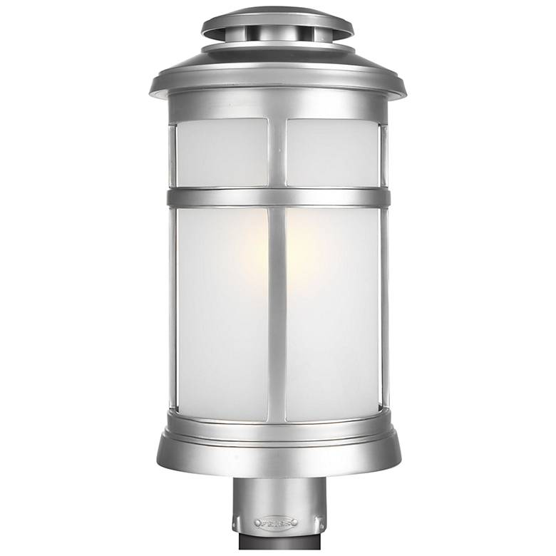 """Newport 18 1/2""""H Painted Brushed Steel Outdoor Post Light"""