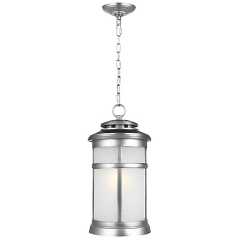 "Newport 18 1/2""H Painted Brushed Steel Outdoor Hanging Light"