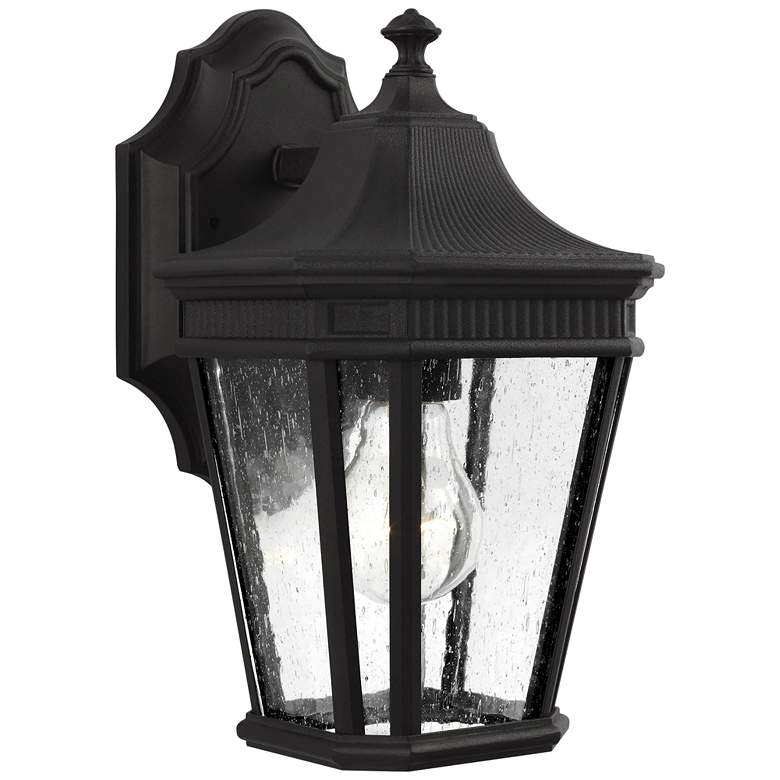 """Feiss Cotswold Lane 11 1/2"""" High Black Outdoor Wall Light"""