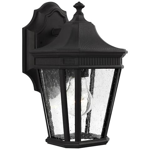 "Feiss Cotswold Lane 11 1/2"" High Black Outdoor Wall Light"