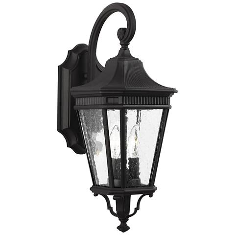"Feiss Cotswold Lane 20 1/2"" High Black Outdoor Wall Light"