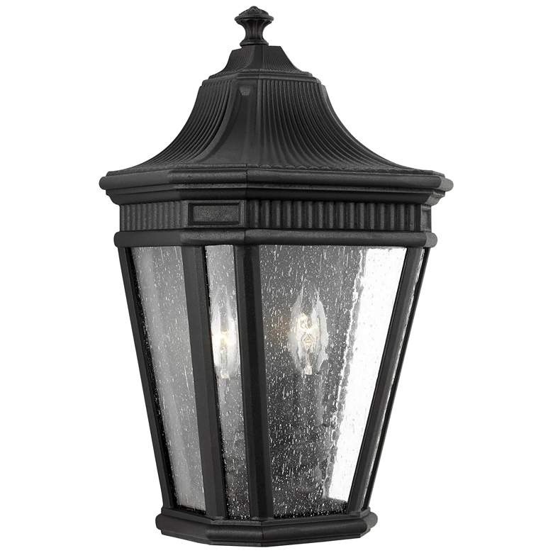 """Feiss Cotswold Lane 16"""" High Black Outdoor Wall Light"""