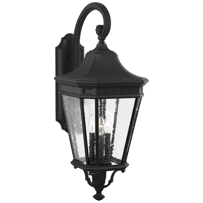 """Feiss Cotswold Lane 30"""" High Black Outdoor Wall Light"""