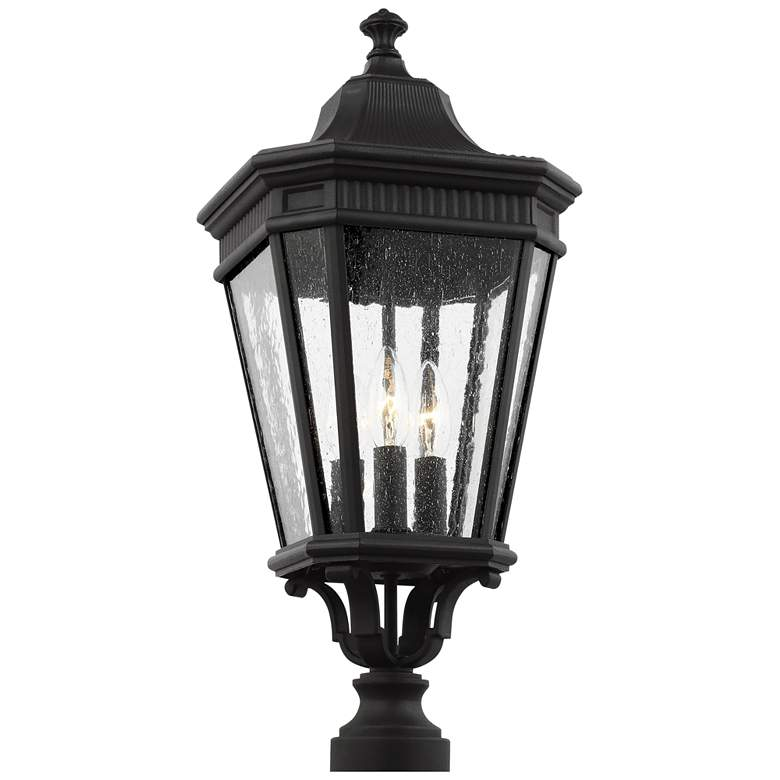 Feiss Cotswold Lane 22 1 2 High Black Outdoor Post Light 37v15 Lamps Plus