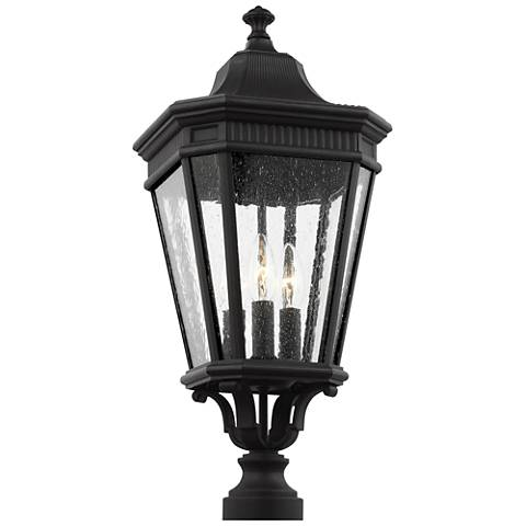 """Feiss Cotswold Lane 22 1/2"""" High Black Outdoor Post Light"""