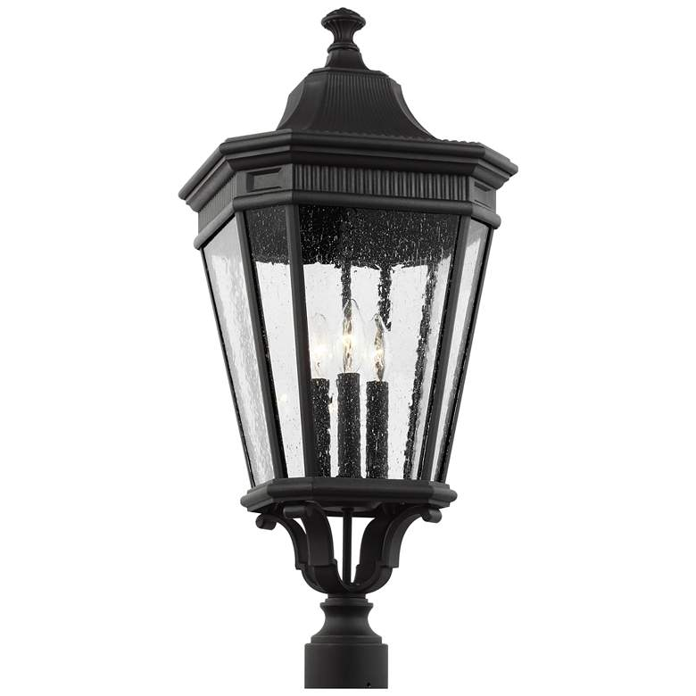 "Feiss Cotswold Lane 27 1/2"" High Black Outdoor Post Light"