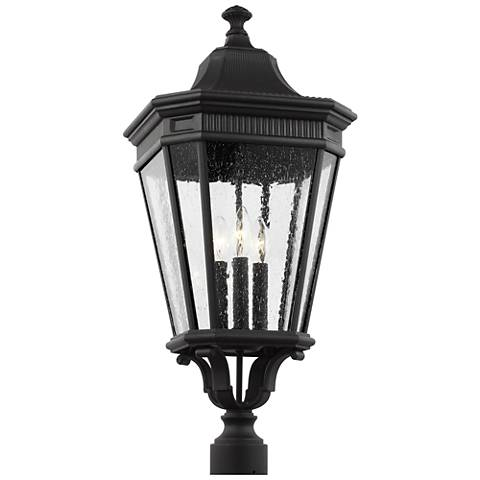 """Feiss Cotswold Lane 27 1/2"""" High Black Outdoor Post Light"""