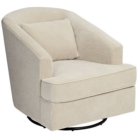 Klaussner Devon Venice Cream Gliding Swivel Occasional Chair