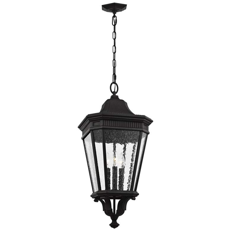 "Feiss Cotswold Lane 26 1/2"" High Black Outdoor"