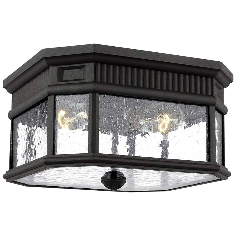 """Feiss Cotswold Lane 11 1/2"""" Wide Black Outdoor Ceiling Light"""