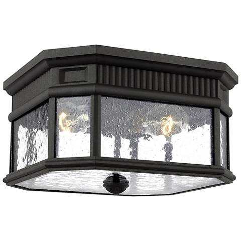 "Feiss Cotswold Lane 11 1/2"" Wide Black Outdoor Ceiling Light"