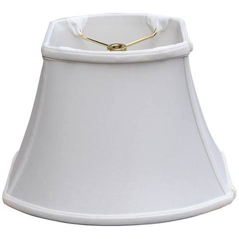 Oyster Rectangular Oval Lamp Shade 8/10x11/14x9.5 (Spider)