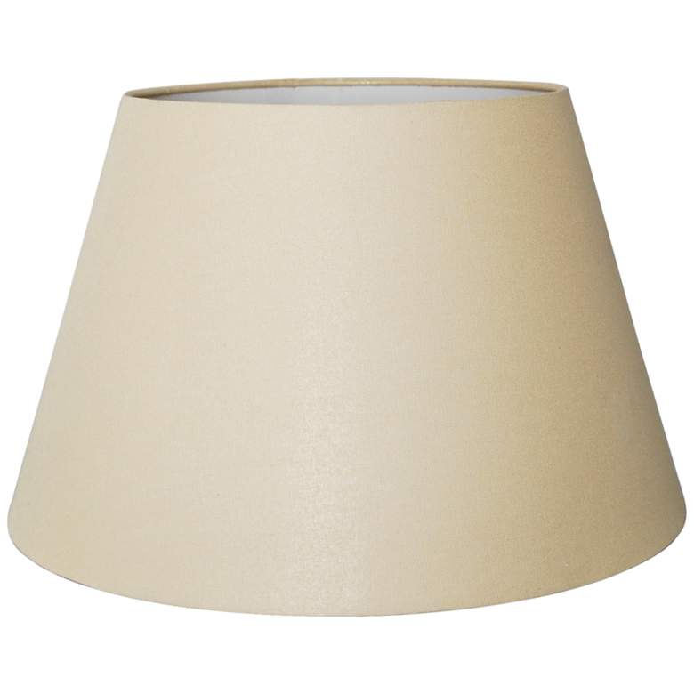 British Beige Empire Hardback Lamp Shade 10x14x10 (Spider)