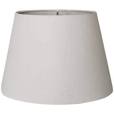 British White Empire Hardback Lamp Shade 10x14x10 (Spider)