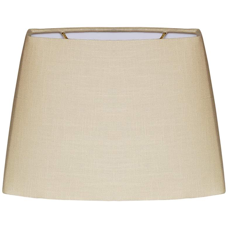 Beige Oval Hardback Lamp Shade 7.5/10.5x8/13x8 (Spider)