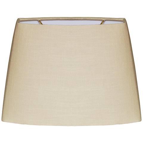 Beige Oval Hardback Lamp Shade 8.5/12.5x9/15x9 (Spider)