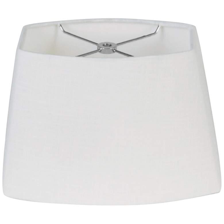 White Oval Hardback Lamp Shade 7.5/10.5x8/13x8 (Spider)