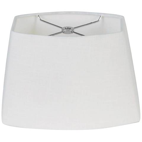 White Oval Hardback Lamp Shade 7.5/10.5x8/13x8 (Spider)