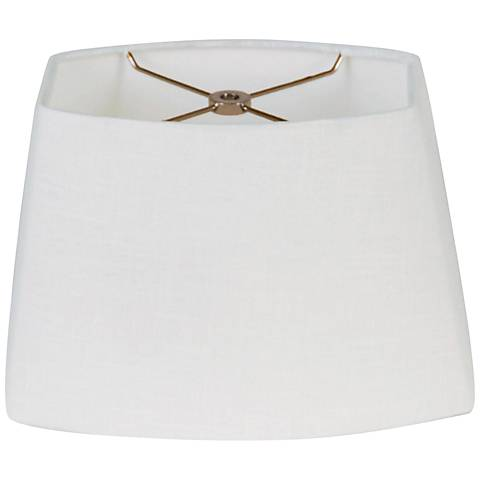 White Oval Hardback Lamp Shade 8.5/12.5x9/15x9 (Spider)