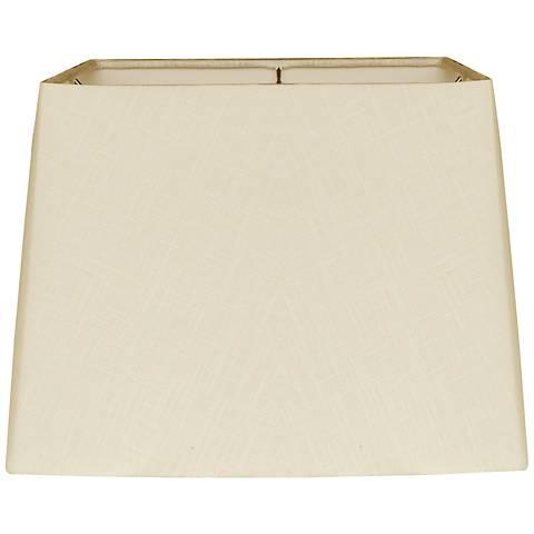 Beige Square Drum Hardback Lamp Shade 12.5x14x10 (Spider)