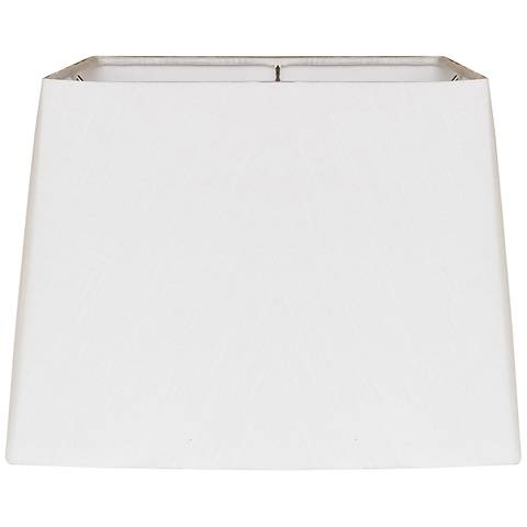 White Square Drum Hardback Lamp Shade 12.5x14x10 (Spider)
