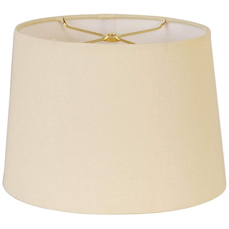 Retro Beige Oval Hardback Lamp Shade 8/12x10/14x9.5 (Spider)