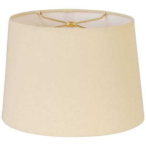 Retro Beige Oval Hardback Lamp Shade 8 12x10 14x9 5