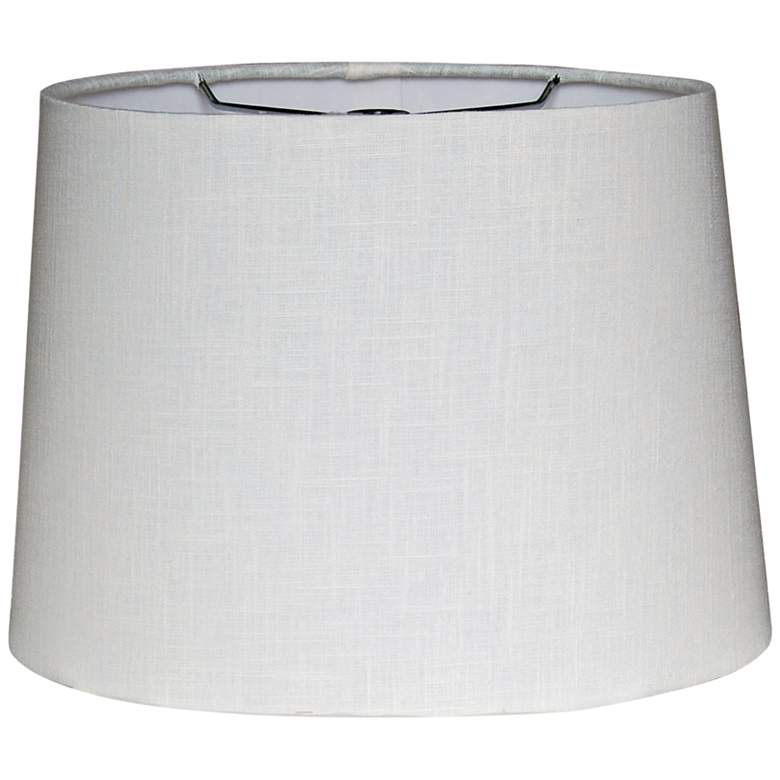 Retro White Oval Hardback Lamp Shade 8/12x10/14x9.5 (Spider)