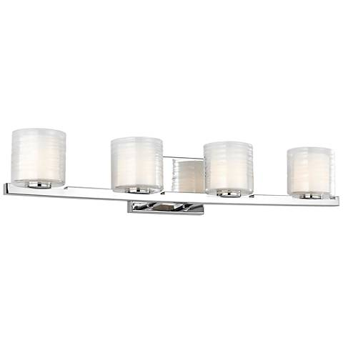 "Feiss Volo 31"" Wide Chrome 4-Light Bath Light"