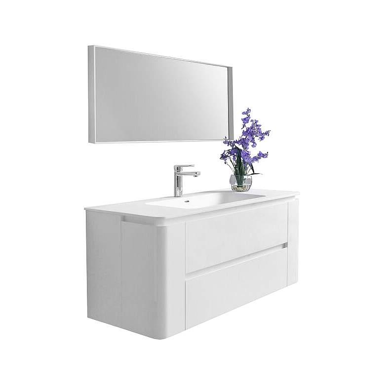 "Gwyneth 48"" White 2-Drawer Single Sink Vanity Set"