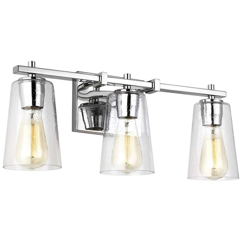 """Feiss Mercer 21 1/2"""" Wide Chrome 3-Light Bath Light"""